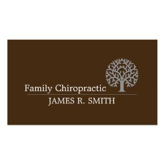 Chiropractor profesional de la quiropráctica de la tarjetas de visita