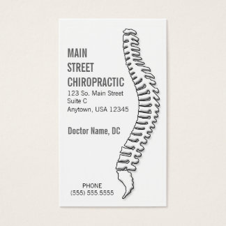 Chiropractor/tarjeta de la cita tarjeta de negocios