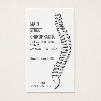 Chiropractor/tarjeta de la cita tarjeta de visita