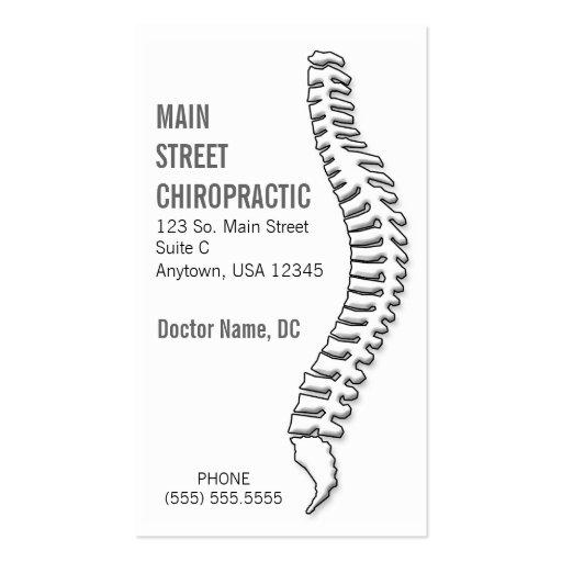 Chiropractor/tarjeta de la cita plantillas de tarjetas de visita