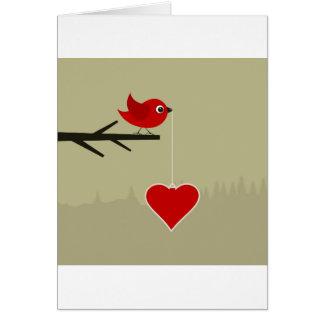 Chirrido con el corazón tarjeta de felicitación