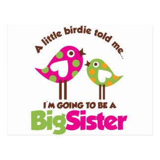 Chirrido que va a ser una hermana grande tarjeta postal