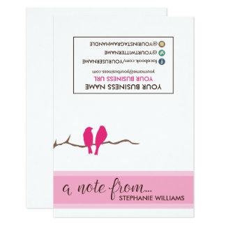 Chirridos Notecards (fucsia) del estilista de la Invitación 8,9 X 12,7 Cm