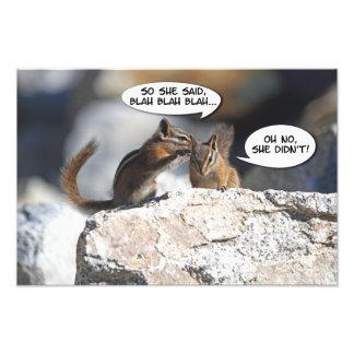 Chisme jugoso de los Chipmunks Impresiones Fotográficas