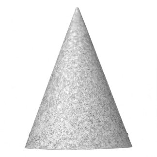 Chispa brillante del brillo de plata gorro de fiesta