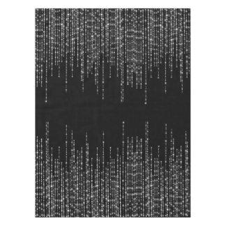 Chispa de plata negra de los filamentos formal mantel