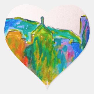 Chispa de Roanoke Pegatina En Forma De Corazón