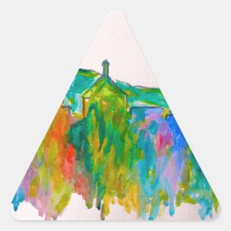 Chispa de Roanoke Pegatina Triangular