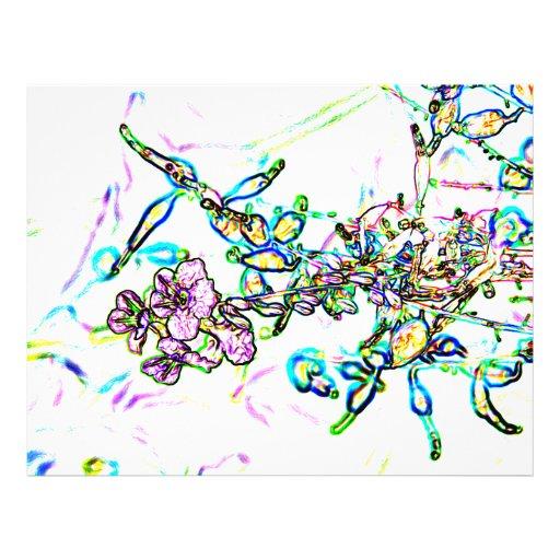 chispa del extracto del esquema de las flores tarjetones
