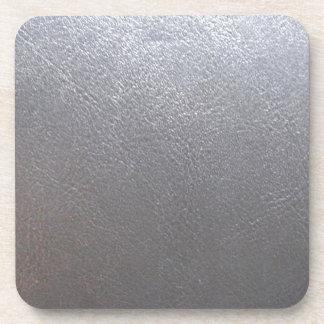 Chispa del gris DE PLATA: Final de cuero de la Portavasos