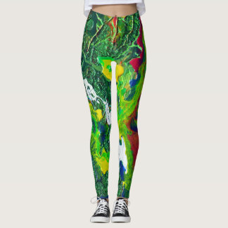 Chispa en polainas verdes leggings