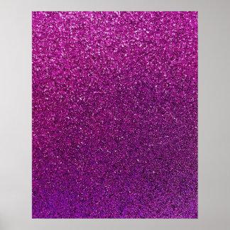 Chispa reluciente del fondo púrpura del brillo póster
