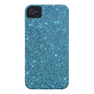 Chispas azules lindas del brillo Case-Mate iPhone 4 cárcasas