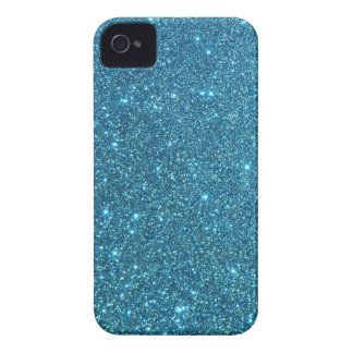 Chispas azules lindas del brillo Case-Mate iPhone 4 fundas