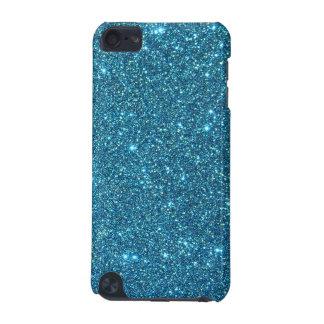 Chispas azules lindas del brillo funda para iPod touch 5G