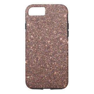 Chispas de bronce del brillo funda para iPhone 8/7
