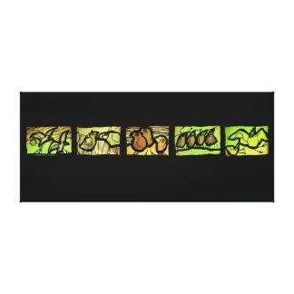 Chispas de KIW: En Taille Vert de la tercerola de Impresion De Lienzo