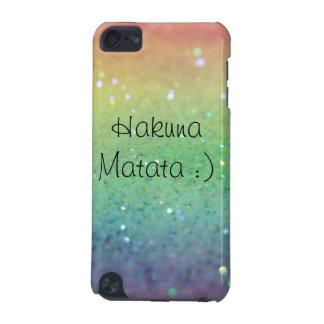 Chispas del arco iris de Hakuna Matata- (iPod 5g) Carcasa Para iPod Touch 5