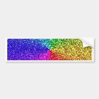 chispas del brillo del arco iris pegatina para coche