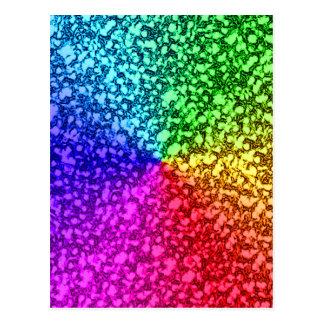 chispas del brillo del arco iris postal