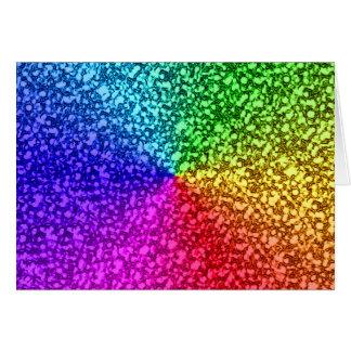 chispas del brillo del arco iris tarjeta de felicitación