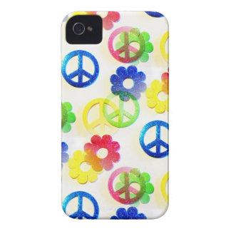 Chispas maravillosas del flower power de los Case-Mate iPhone 4 cárcasas