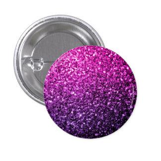 Chispas rosadas púrpuras hermosas del brillo de chapa redonda 2,5 cm