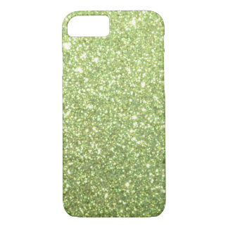 Chispas verdes claras del brillo funda para iPhone 8/7