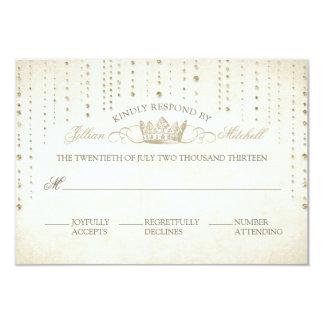 Chispas y cuento de hadas de la corona que casa la invitación 8,9 x 12,7 cm