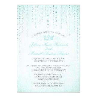 Chispas y invitación del boda del cuento de hadas