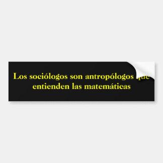 Chiste de antropologia pegatina de parachoque