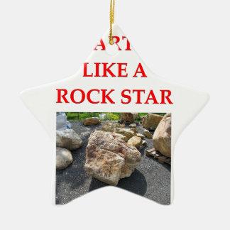 chiste de la geología adorno navideño de cerámica en forma de estrella