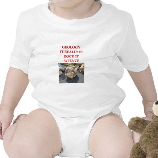 chiste de la geología traje de bebé