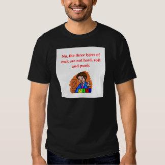 chiste de la geología camisetas