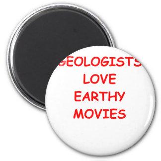 chiste de la geología imán redondo 5 cm