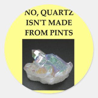 chiste de la geología pegatina redonda