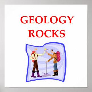 chiste de la geología poster