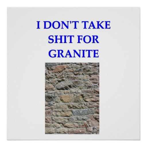 chiste de la geología posters