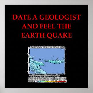 chiste de la geología póster