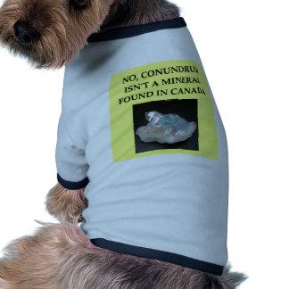 chiste de la geología camisas de mascota