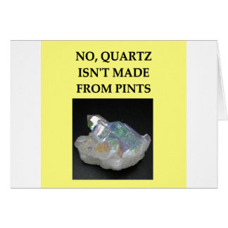 chiste de la geología tarjetas