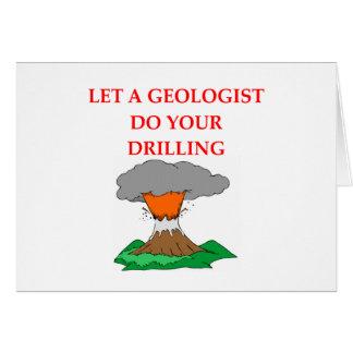 chiste de la geología tarjeta de felicitación
