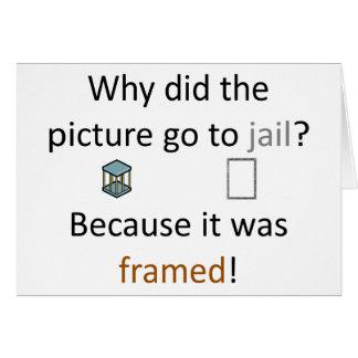 Chiste de la imagen tarjeta de felicitación