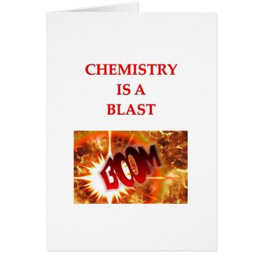chiste de la química tarjeta