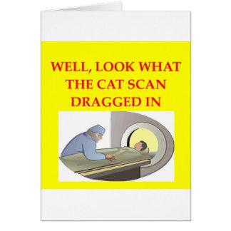 chiste de la radiología tarjeta de felicitación