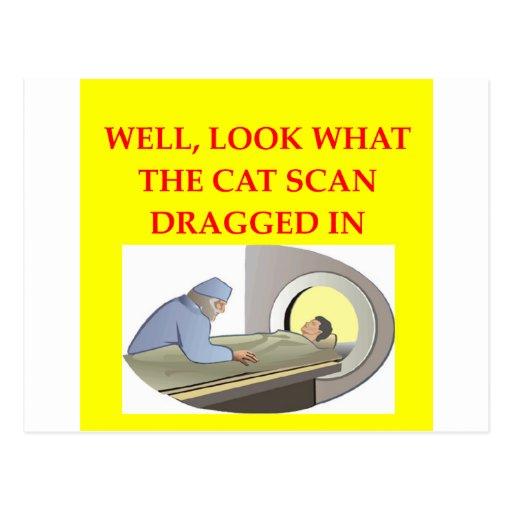 chiste de la radiología postal