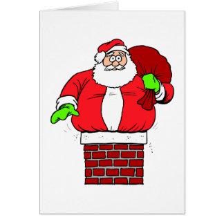 Chiste de Papá Noel del humor del navidad Tarjeta De Felicitación