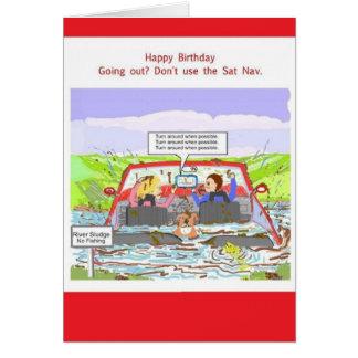 Chiste de Sat Nav de la tarjeta de cumpleaños