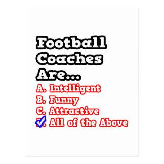 Chiste del concurso del entrenador de fútbol… postal