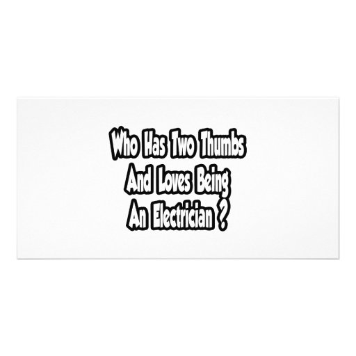 Chiste del electricista… dos pulgares tarjeta personal